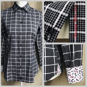 Robert Graham Plaid Heels Button Top Shirt S NWOT